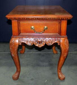"Hammery Abbington Row Carved Drawer End Table 26""H x 22""W x 27""D with Cosmetic Damage"