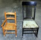 "Two Rocking Chairs 15"" Tall Seat and 10"" Tall Seat"