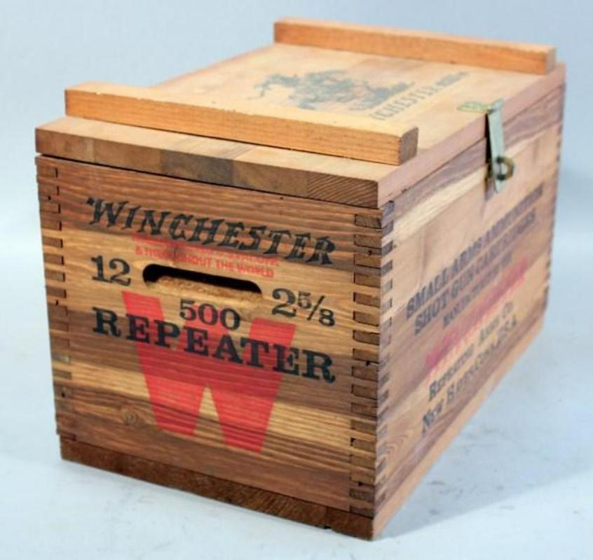 Winchester Wooden Dovetailed Ammo Box for Small Arms