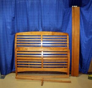 Ladderback Style Queen Size Headboard, Footboard and Rails, Matches Lot #8, Click for More Info