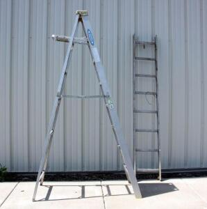 Werner 8' Type 2 Aluminum Commercial Ladder with 8' Ladder