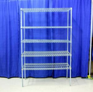 "Wire Shop Shelves with 5 Shelves, Approx 75""T x 47""w x 24""D"