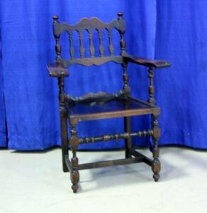 "Vintage Wooden Captain's Chair with 20.5"" Seat"