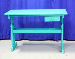 "Green Drafting Table with Pencil Drawer, Approx 30""T x 43""W x 21.5""D"