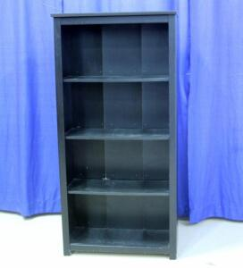 "Bookcase with 4 Shelves, Some Cosmetic Damage, 60""T x 29""W x 12""D"