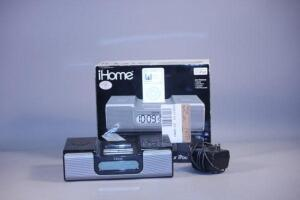 iHome Dual Alarm Clock, Made For iPod, Universal Dock, With Box