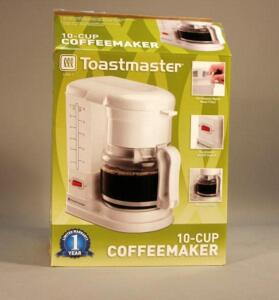 Toastmaster 10-Cup Coffeemaker Model C400-1, New in Box