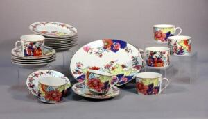 Imperial Leaf China Set, 8 Dinner Plate, 7 Salad Plate, 8 B & B Plate, 7 Cups