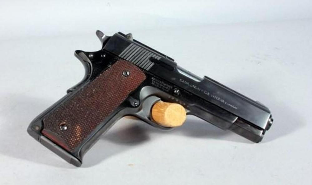 Stoeger Industries Llama 9mm Para Pistol with 1911 Frame, Newly Re-Blued