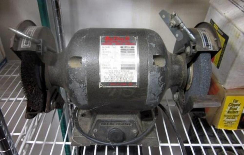 Buffalo Bench Grinder Model B 6cb 1 2hp 3450rpm Powers On