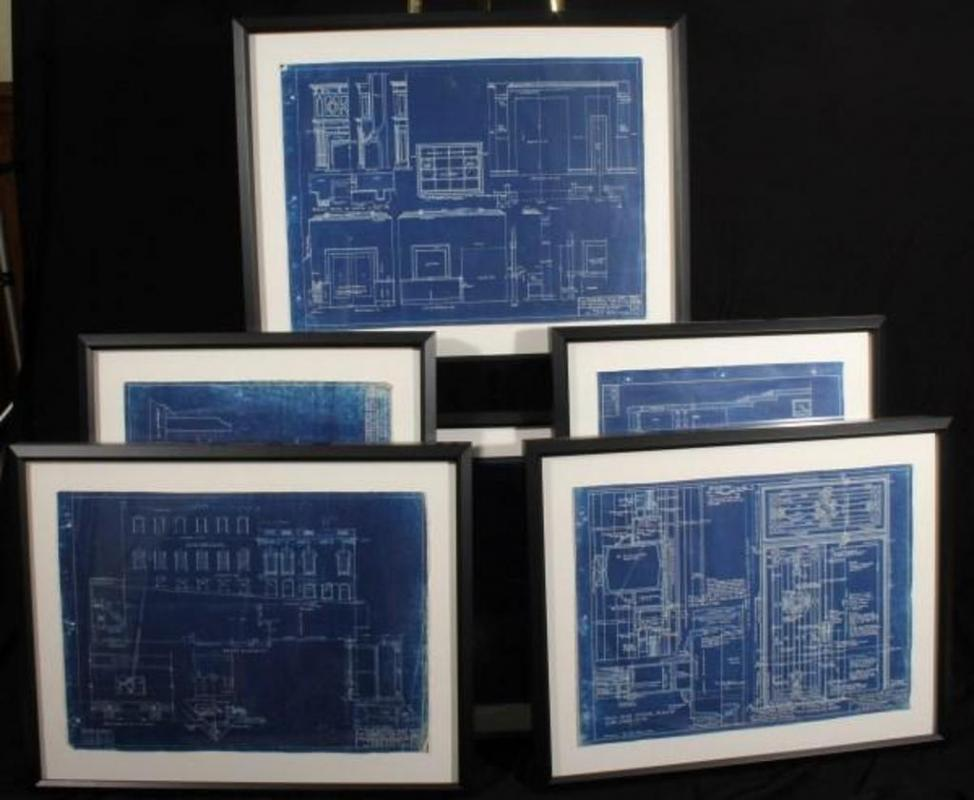 Framed architectural blueprint from university club building at 914 lot 85a of 538 framed architectural blueprint from university club building at 914 20 baltimore avenue circa 1920s 295 x 2325 malvernweather Images