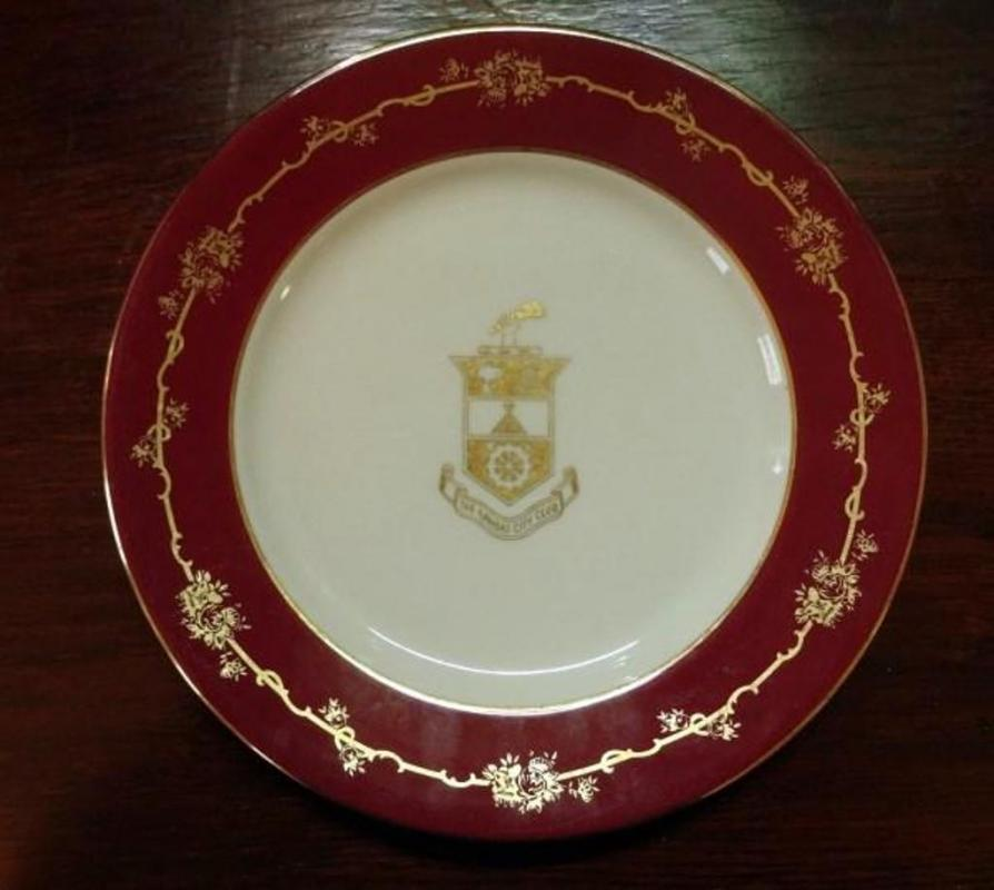 Large Quantity Of Red And Gold China With Kansas City Club