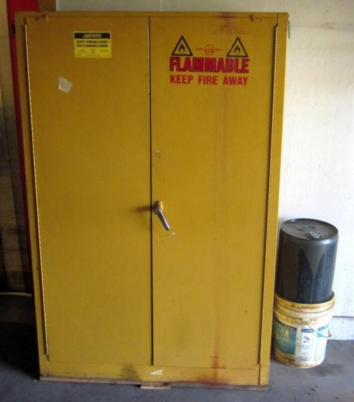 Justrite Metal Safety Storage Cabinet For Flammable Liquids