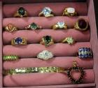 Assortment of Rings, Pendant, Bracelet - All Marked 925, Qty 15, See Description For Sizes