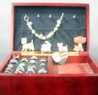 Assortment of Costume Jewelry Rings (18), Terrier Pins (2), Pet Charm Bracelet, Jewelry Box, More!