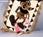"Llama Hide Mickey Mouse Blanket, Made From The Fur of Llamas! 51"" x 35"" + Minnie 10"" and Baby Minnie"