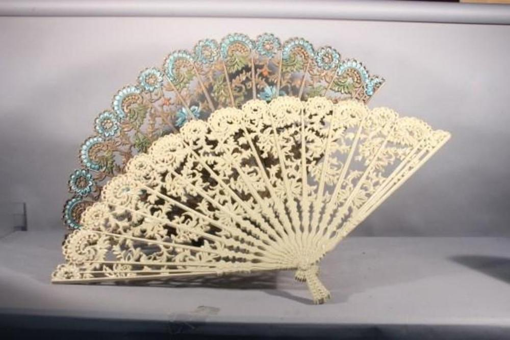 Large Plastic Oriental Wall Fan Decor, They Measure A Large 43\