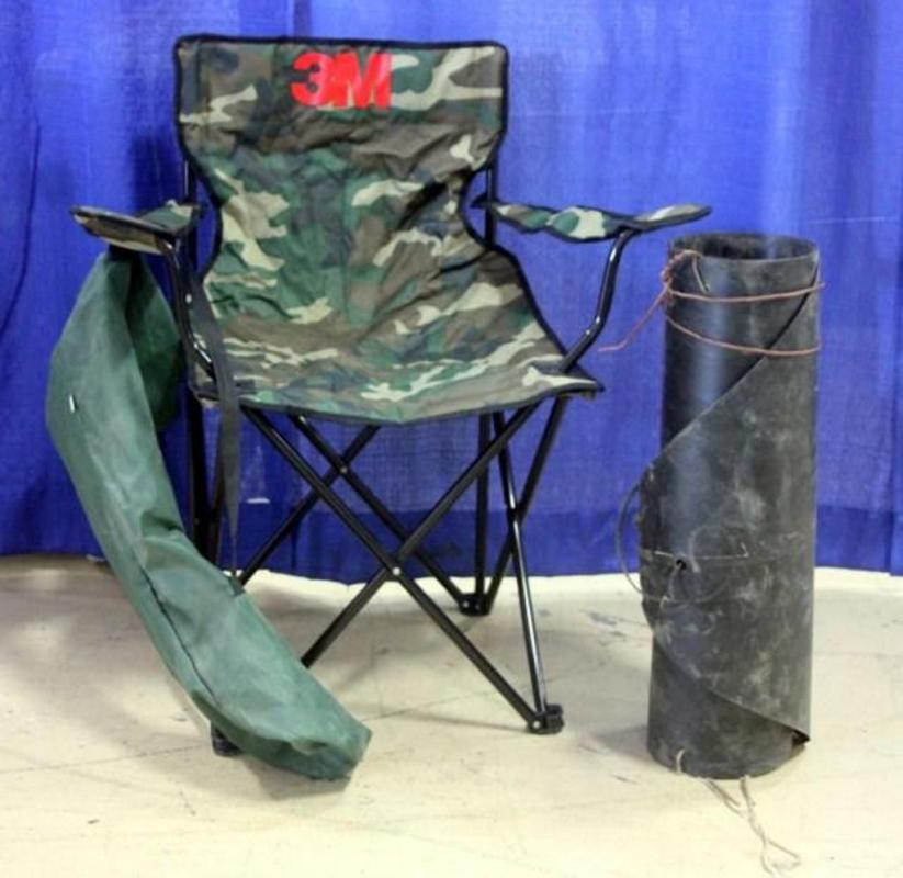 Lot 170 Of 410 Homemade Deer Sled 24 X 72 And Camping Chair