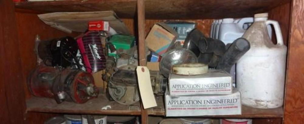 Contents of Second Shelf, Includes Xact Spark Plug Wire Set, Milton on