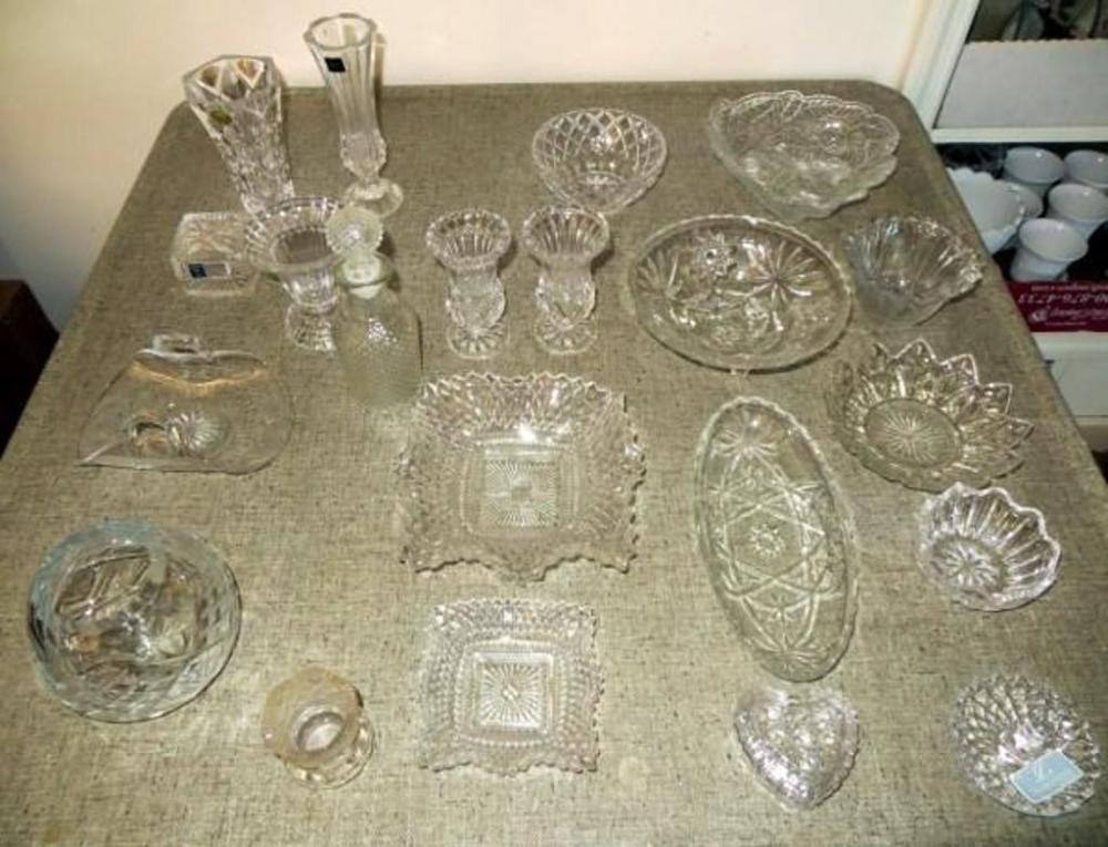 Glassware Qty 21 Includes Vase Lead Crystal France Mikasa Bud