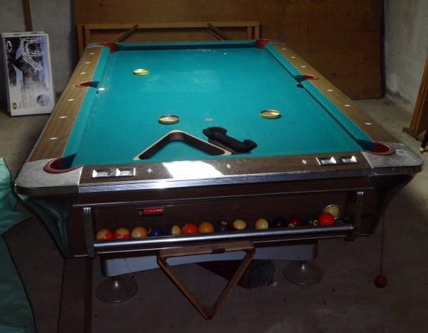 Empire VII Slate Top Pool Table With Cues Cue Rack Balls Chalk - Pool table chalk board