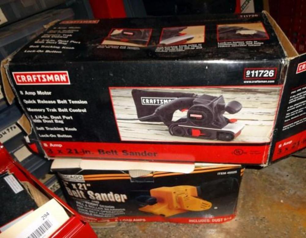 Craftsman belt sander model no 315117260 nib and chicago lot 295 of 390 craftsman belt sander model no 315117260 nib and chicago electric belt sander 3 x 21 serial no 03050318 sciox Image collections
