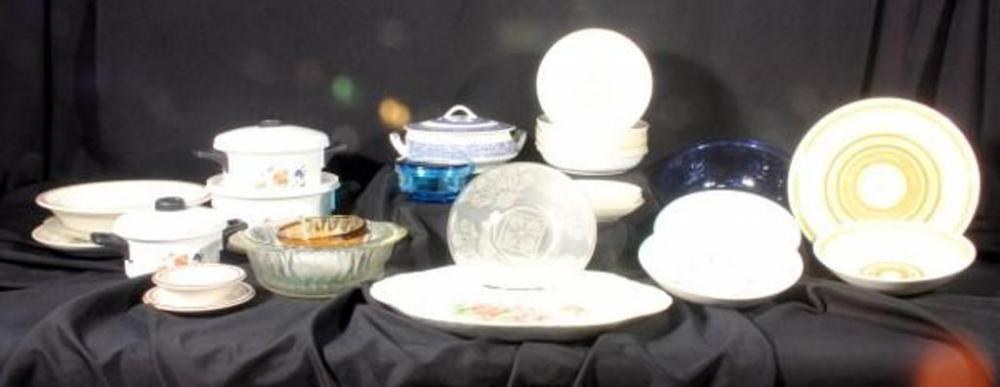 Homer Laughlin Golden Wheat Bowls 8 Decorative Plates Pie Pan