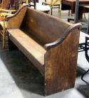 "Church Pew with Scrapes, Wear - 62"" Long"