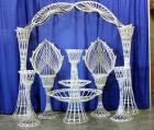 Wicker Wonderland - Large Wicker Displays For Candles, Plants, Events - Pieces 3' to 7' Tall