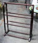 "Dark Brown Quilt Rack, 33.5"" Tall"