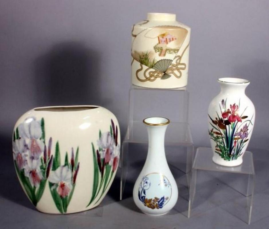 Hand Painted 8 Vase Artist Signed Sensu Vase Limoges Castel Vase