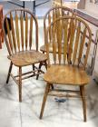 Slat Back Chairs, See Description, Qty 3