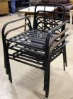 Outdoor Metal Chairs with Black Strap Bottom Qty.4