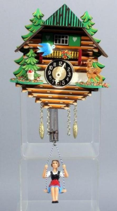 lot 231 of 201 vintage miniature german coo coo clock bird moves when girl swings