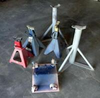 Vehicle Jacks (5) and Small Metal Dolly - 2
