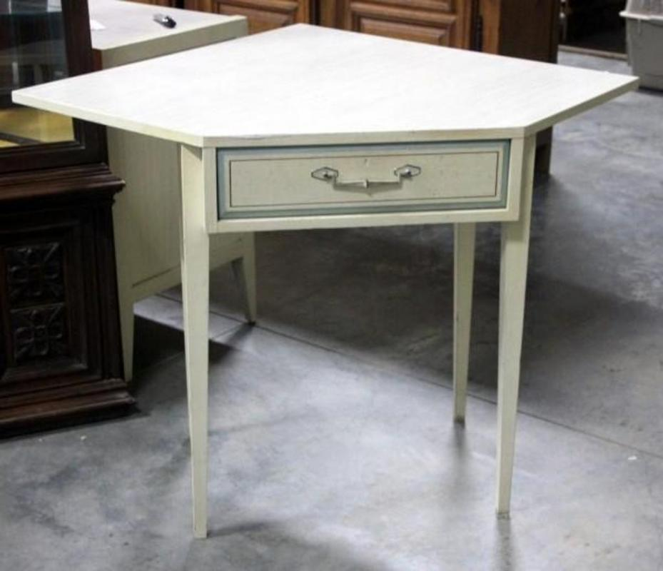 Lot 15 Of 200 Mid Century Modern Basic Witz Corner Desk With Dovetail Drawer 30 5 H X 46 W 36 D