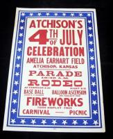 "Atchison's 4th of July Celebration at Amelia Earhart Field Poster, Parade/Rodeo, 28"" x 42"", Good"