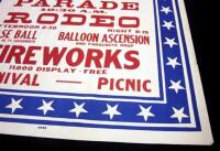 "Atchison's 4th of July Celebration at Amelia Earhart Field Poster, Parade/Rodeo, 28"" x 42"", Good - 7"