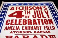 "Atchison's 4th of July Celebration at Amelia Earhart Field Poster, Parade/Rodeo, 28"" x 42"", Good - 8"