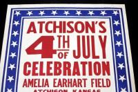 "Atchison's 4th of July Celebration at Amelia Earhart Field Poster, Parade/Rodeo, 28"" x 42"", Good - 2"