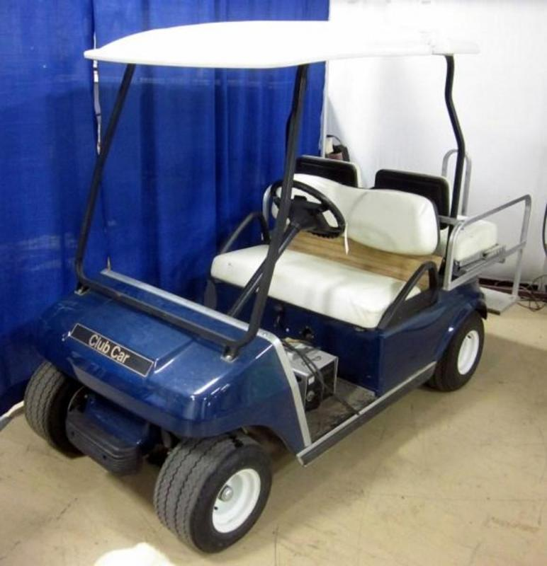 Lot 1A Of 410 2001 Golf Cart Club Car 4 Seater W Flip Flop Rear Seat Kit For Passenger Transport Or Flatbed Utility Vehicle Needs New Bank Batteries