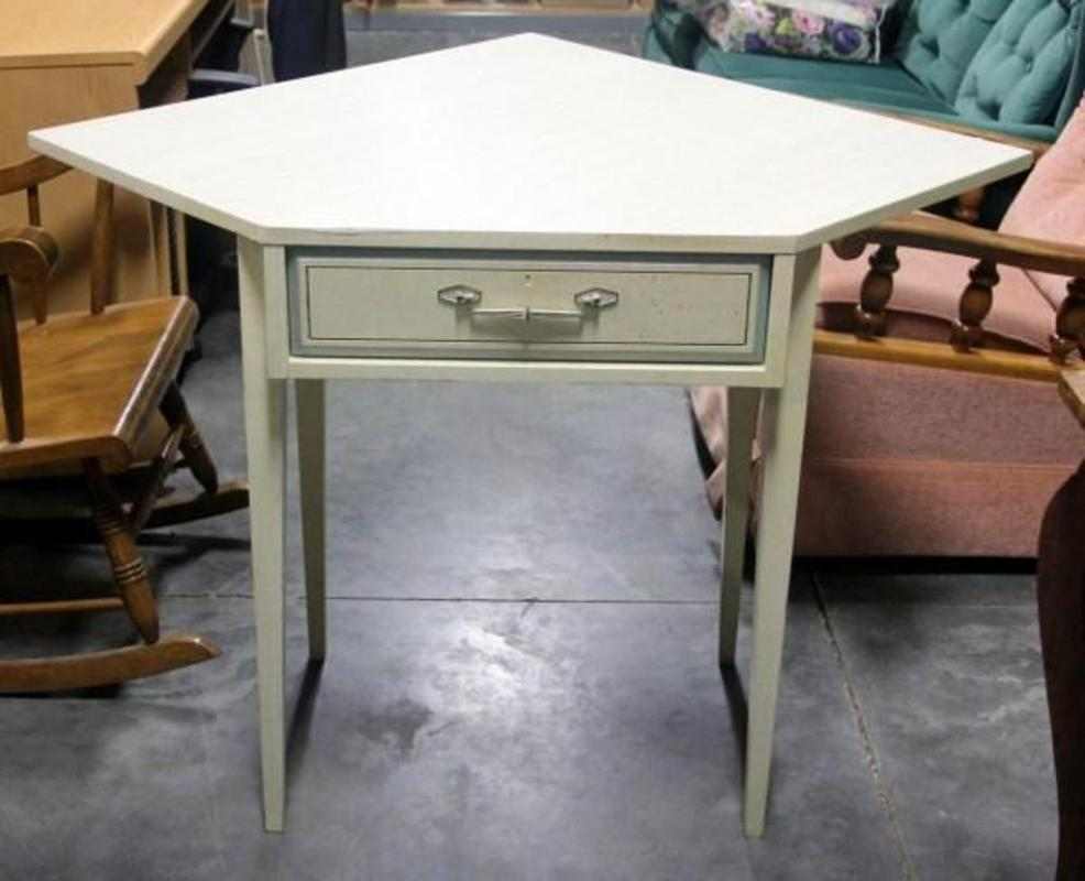 Lot 43 Of 594 Mid Century Modern Basic Witz Corner Desk With Dovetail Drawer 30 5 H X 46 W 36 D