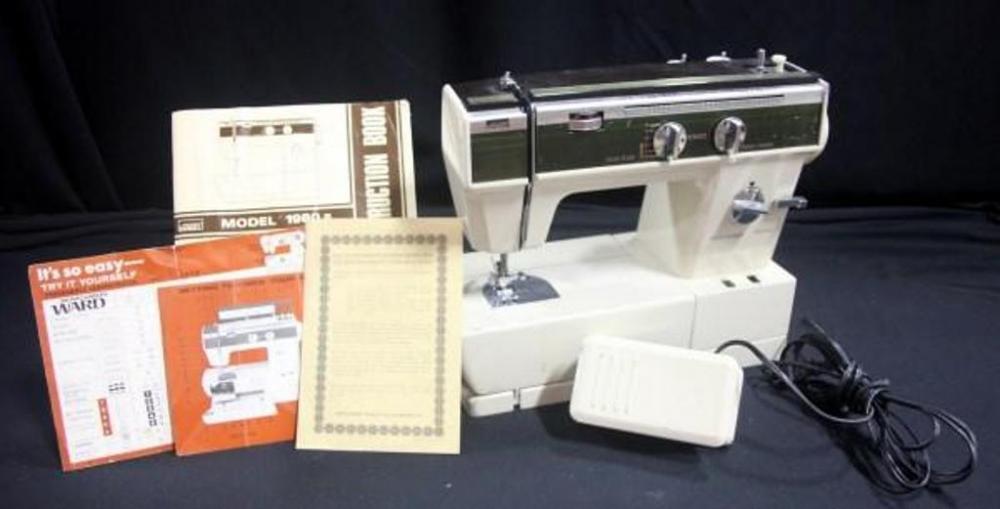Montgomery Ward Sewing Machine Model 40B With Manuals And Sewing Unique Montgomery Ward Sewing Machine Manual