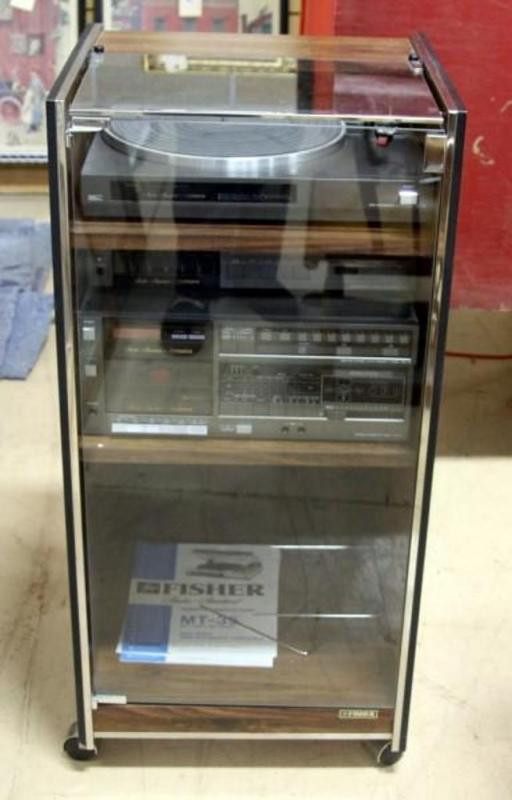 Lot 63 Of 380: Fisher Studio Standard Sound System Cabinet  MT 35 Semi  Automatic Turntable, FM 76 AM/FM Stereo Synthesizer, CR 64 Stereo Cassette  Deck And ...