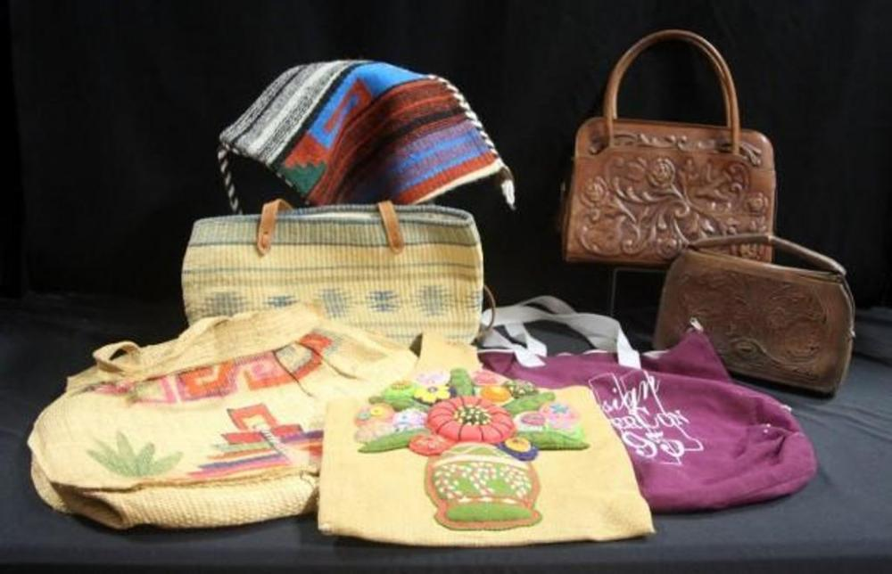 Lot 366 Of 380 Handbags And Bags Vintage Ornate Tooled Leather Purse Clutch Handwoven Southwest Style Purses Design Super Con 95 Bag