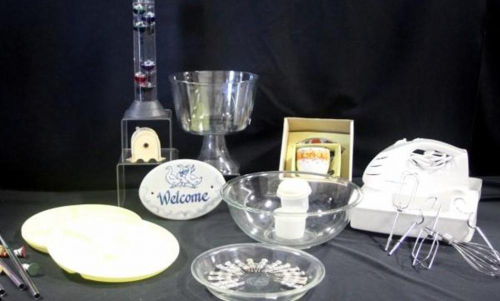 Kitchen and Home Goods- Koch Galileo Thermometer, Mixing Bowl, Pie ...