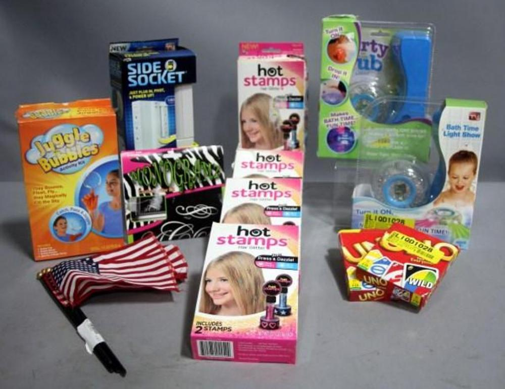 Fun and Games! Hot Stamps Hair Glitter (Qty 4), Juggle Bubbles ...
