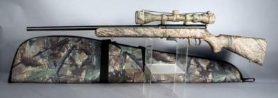Savage Model 93R17 Bolt Action Rifle, Cal .17 HMR, SN# 2082796, Scope, Camo Soft Case