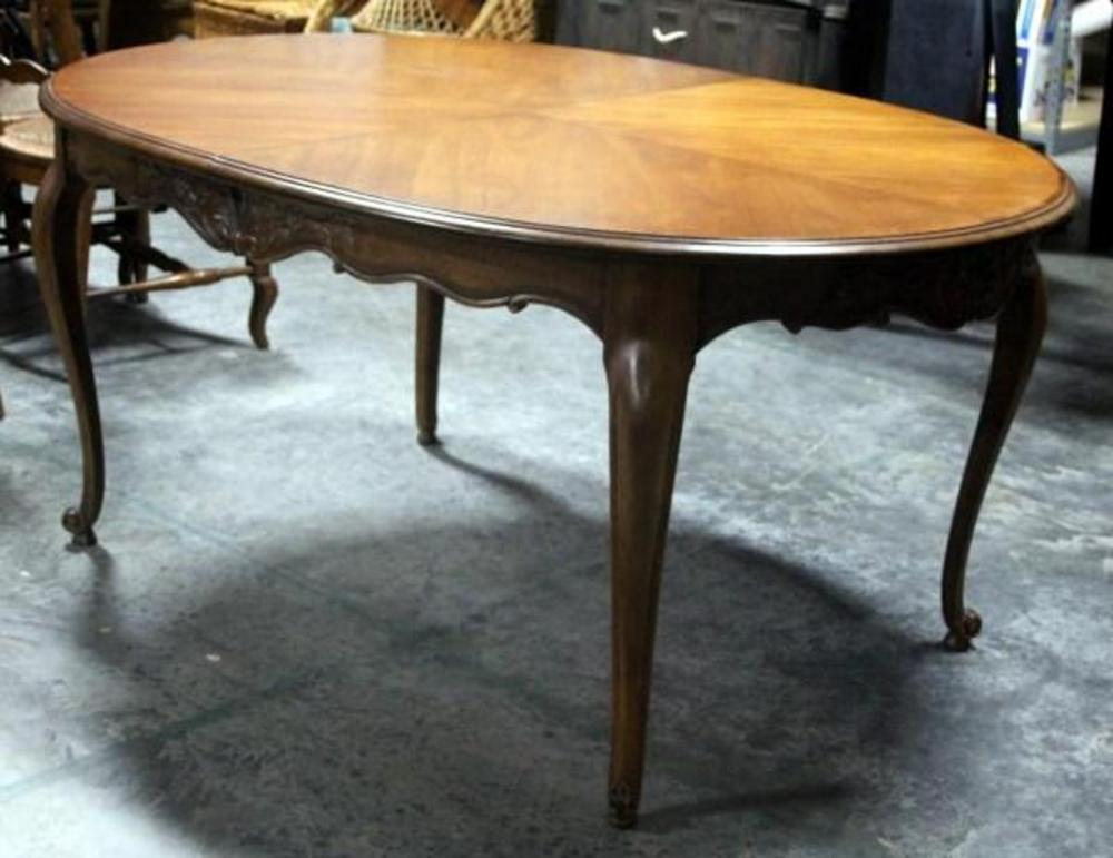 Drexel french in the country manor french provincial dining table lot 16 of 326 drexel french in the country manor french provincial dining table with floral carved wood design includes two 18 leaves 635w x 30h x workwithnaturefo
