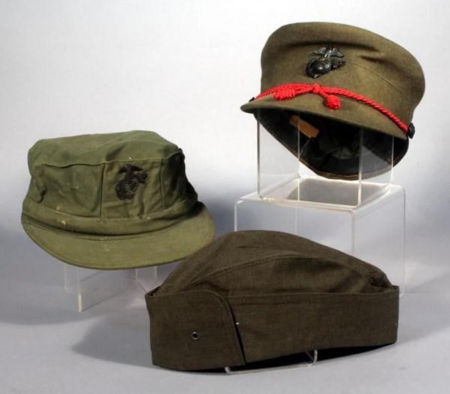 03ae7bb7ad1 Lot 165 of 418  Genuine USMC Womens Marine Corps Hats- Dress Service Serge  Green Bernard Wool Cap